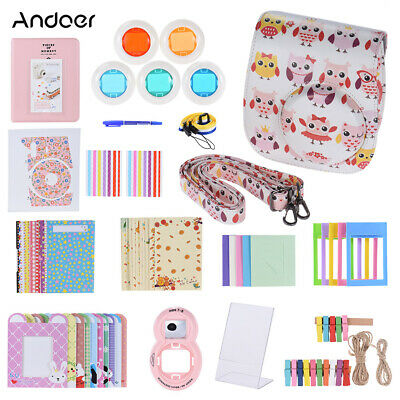 Andoer 14 in 1 Accessories Kit for Fujifilm Instax Mini 8/8+/8s/9 w/ Camera E1U1
