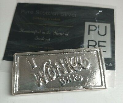 Hand Poured Silver Pure .999 Fine Wonka Bar Silver Bar  4 Oz  (124g) with COA