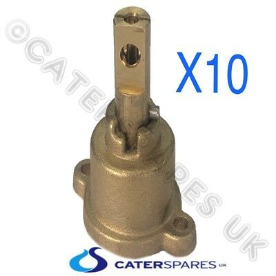 Chinese Cooker Wok Brass Pel Gas Tap Valve Repalcment Head / Shaft Spindle X 10