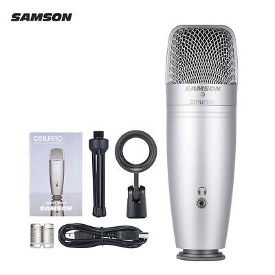 USB Studio Condenser Recording Microphone Mic Large Diaphragm NEW S6P3