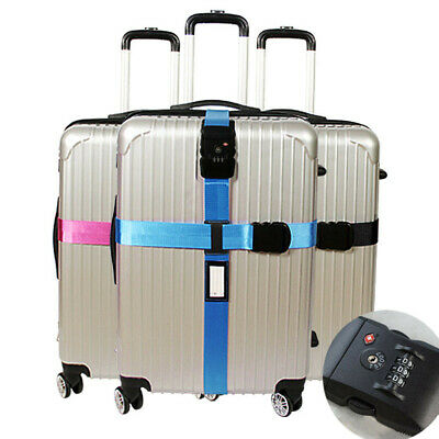 Luggage Straps with Lock Suitcase Travel Baggage Belt Cross Luggage Protection
