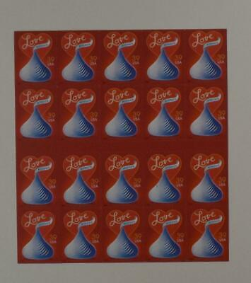 US SCOTT 4122a  PANE OF HERSHEY KISSES LOVE STAMPS 39 CENT FACE MNH
