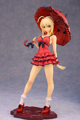 Anime Alphamax Fate/Extra CCC Red Saber Nero Dress Sexy swimsuit Ver PVC Figure