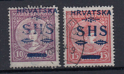 YUGOSLAVIA Issues for Croatia: 1918 HRVATSKA / SHS blue - 7370