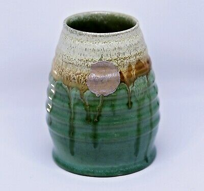 Vintage 1930s Early Remued vase with original sticker label, stunning series 257
