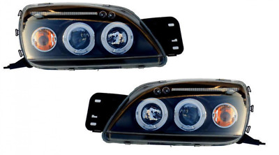 Ford Fiesta Mk5 Black Twin angel eye projector headlights