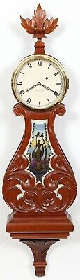 Foster Campos Pembroke MA, Weight Driven Curtis Lyre Banjo Clock #3, 1982 MINT