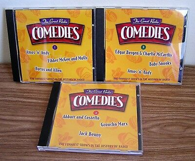 The Great Radio Comedies Set of 3 Amos n Andy Fibber McGee Burns Abbott Costello