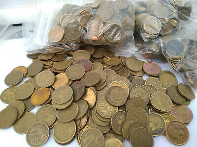 Lot 1 Kg De 10 Francs Guiraud (Env 300 Pieces) Toutes Dates Tb++