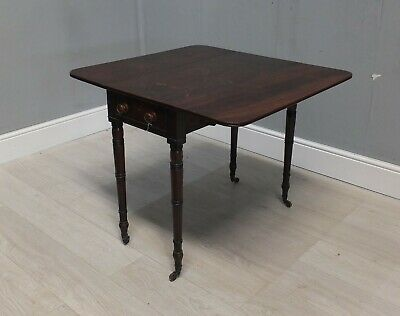 Early Victorian Mahogany Pembroke Table (25)