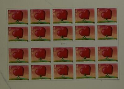 Us Scott 4270 Pane Of 20 All Heart Stamps 42 Cent Face Mnh