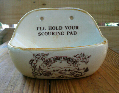 Great Smoky Mountains National Park Vintage Scouring Pad Soap Dish Holder