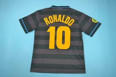 Maglia Calcio Retro 10 Ronaldo Inter Home Finale Uefa 98 Final Cup Fenomeno