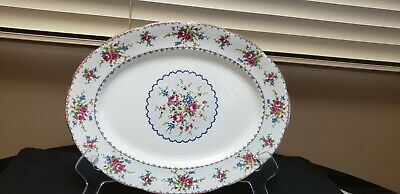 Royal Albert Bone China Petit Point Large Oval Serving Platter 13 Inches