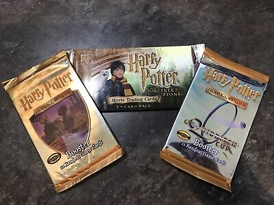 Harry Potter trading cards, Booster & Quidditch Boost cards - Factory sealed x 3
