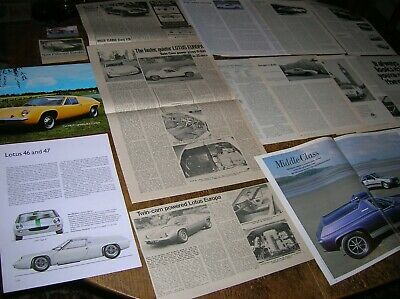 Lotus EUROPA  1967-89  Articles, tests, extracts, ads.  Twin-cam, Special etc