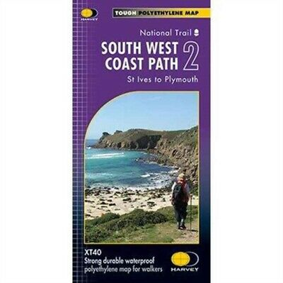 South West Coast Path 2 XT40: St Ives to Plymouth (Route Maps) (Map)