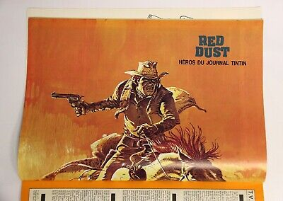 Poster RED DUST couv. Hermann + 37 hommages à Hergé JOURNAL TINTIN 20-3-1979 TBE