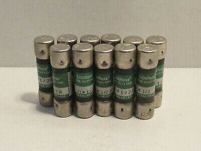 (Lot Of 11) Littelfuse Flm 1/2A Flm1/2A 1/2 Amp 1/2A Time Delay Fuse New