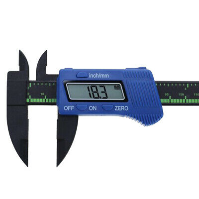 "Blue Digital Caliper With LCD 150mm 6"" Electronic Display Tool"