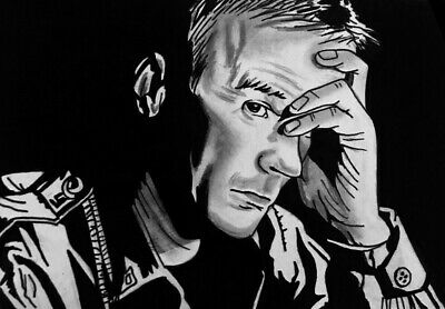 ACEO Carbon ink Graphite sketch card  stargate  Jack O'Neill