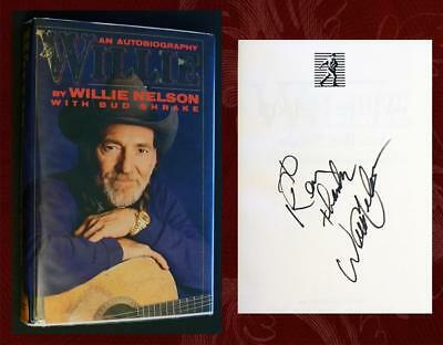 WILLIE NELSON SIGNED - 1st/1st Autographed - WILLIE: AUTOBIOGRAPHY with mylar