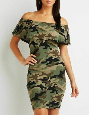 868311baa0039 CHARLOTTE RUSSE SEXY camo off the shoulder bodycon dress, Plus size ...