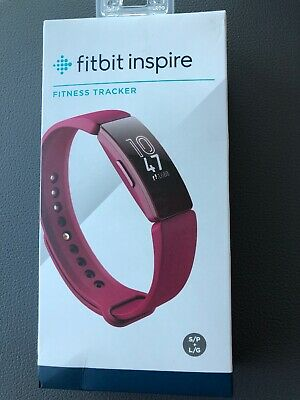 Fitbit INSPIRE Fitness Tracker SANGRIA Band (S & L Bands Included) NEW FB412BYBY
