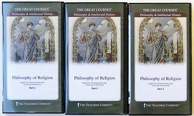 GREAT COURSES  6 DVD's + 3 Books  PHILOSOPHY OF RELIGION  Professor James Hall