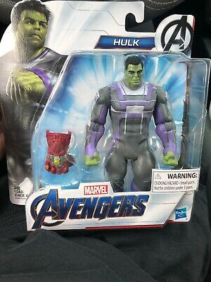 Marvel Avengers Endgame Hulk with Infinity Gauntlet Stones Action Figure NEW