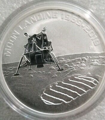 1 oz .999 silver coin Apollo II moon landing Neil Armstrong JFK NASA 50th Perth