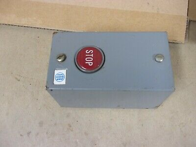 ITE H111B1 Push Button Enclosure Box STOP 600 VAC Normally Open Closed Motor Red