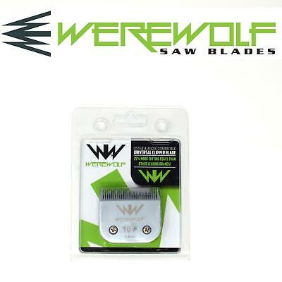 Werewolf Professional Dog Clipper Blades Size 10 Fits Oster, Andis, Sure Clip