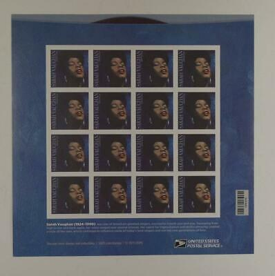 Us Scott 5059 Pane Of 16 Music Icons Sarah Vaughan Forever Stamps Mnh