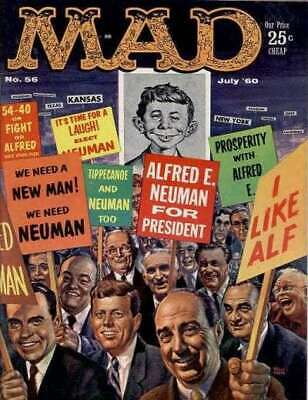 Mad (1952 series) #56 in Very Good minus condition. E.C. comics [*yl]