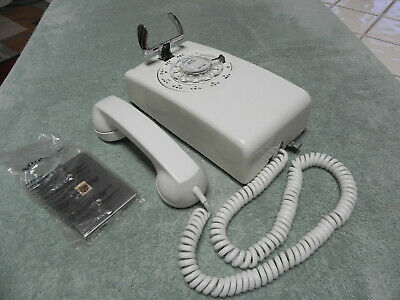 NOS 1964 White Western Electric Bell System 554 Rotary Wall Telephone-Vintage