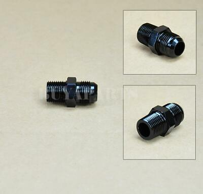 4 pieces Black AN10 10 an to 1/2 NPT Male Fitting Straight Adapter