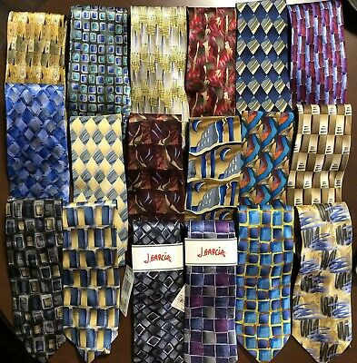 Huge Lot Of 19 Vintage Jerry Garcia Neck Ties, Two Nwt And All In Flawless Cond