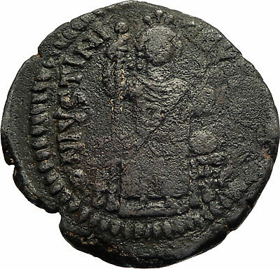 JUSTINIAN I the GREAT Authentic Ancient Antioch Follis Byzantine Coin i76953