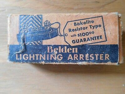 Vintage Belden Lightning Arrester #8896 untested NICE