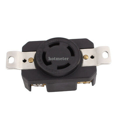 H● NEMA L19-30A 4 Socket 3 Phase Power Locking Receptacle Generator Outlet.