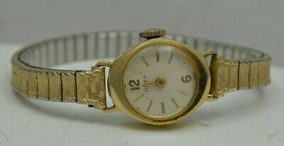 Vintage Timex Gold Tone Ladies Watch Speidel Band TESTED working Hand Wind iw