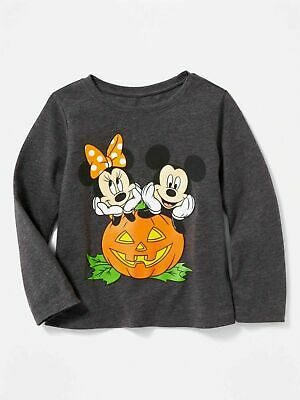 NWT Girls Old Navy Disney Minnie Mouse Halloween Long Sleeve Top sz 2t 3t or 4t
