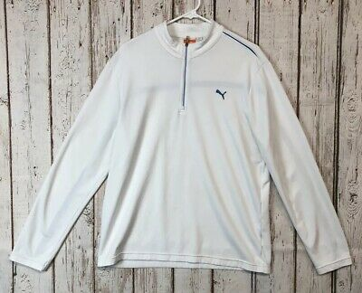 Puma Sport Lifestyle Men's White Long Sleeve Shirt Size L #u113