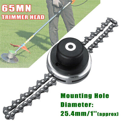 2 Types 65Mn Trimmer Head With Sawchain Cutter Trimmer Grass For Lawn Mower