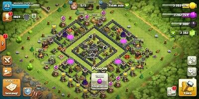 [FLASH SALE] CLASH of Clans TH 9 Heroes 11/9, 2,3K GEMS [ANDROID & IOS]