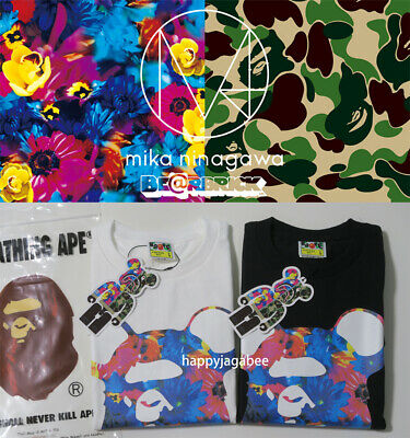 5965113e BAPE A BATHING Ape Mens Color Camo College Tee T-Shirt