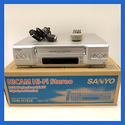 Sanyo VHR-H793 Nicam HiFi VCR + Remote and Scart Lead Video Cassette Recorder