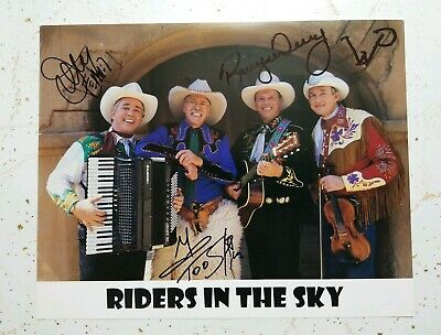 RIDERS IN THE SKY Group Signed Autographed Country Music Photo