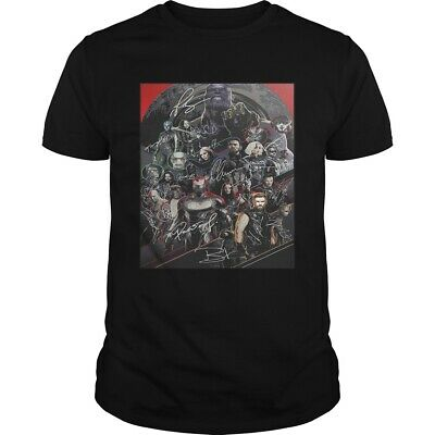 Official Marvel Avengers Endgame Poster Character Signature Shirts Tee US trend